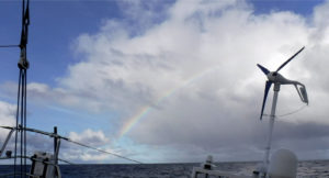 Photo sent from the boat Great American IV, on November 15th, 2016 - Photo Rich Wilson Photo envoyée depuis le bateau Great American IV le 15 Novembre 2016 - Photo Rich Wilson Rainbow